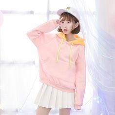 "Sweet students fleece pullover SE9299   Coupon code ""cutekawaii"" for 10% off"