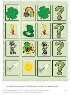 St. Patrick's Printable Math & Reading File Folder Games - smalltowngiggles - TeachersPayTeachers.com