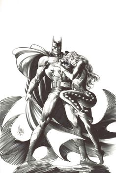Batman and Poison Ivy by Mike Deodato Jr.