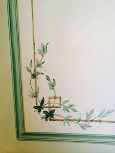 Detail of handpainted Wall - Gustavian style