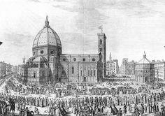 ZOCCHI Giuseppe (Firenze 1711 – Firenze 1767) - Florence Cathedral   #TuscanyAgriturismoGiratola