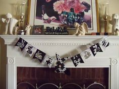 Angel Diann's Emporium Black & White Easter Garland Easter Garland, All Things, Photo Wall, Banner, Black And White, Frame, Decor, Picture Banner, Black White