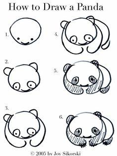comment dessiner un panda? #kawai #drawing #art