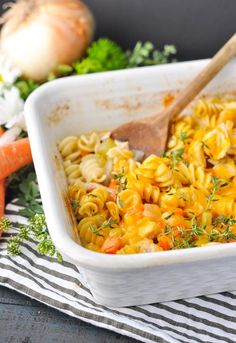 Dump-and-Bake Chicken Noodle Casserole