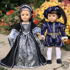 Catherine of Aragon - historic tudor style outfit for 18 inch doll like American Girl American Girl Clothes, Girl Doll Clothes, Doll Clothes Patterns, Girl Dolls, American Dolls, Ag Dolls, Girl Clothing, Doll Patterns, Doll Costume