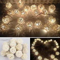WOW 10 LED Ball String Lights Home Garden Fairy Lamp Wedding Party Xmas Decor #Unbranded