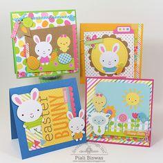 Doodlebug Design Inc Blog: Easter Parade Card Set and Bookmarks by Piali Biswas