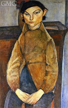 gypsy paintings | Young Gypsy | Modigliani | Painting Reproduction 8498 at TOPofART.com