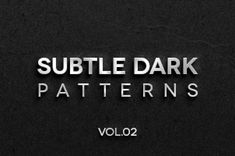 This is the second volume of our subtle dark texture patterns background including 4 dark tile patterns to help you create...