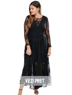 rochi pentru plinute negre lungi pentru ocazii speciale Black, Dresses, Fashion, Vestidos, Moda, Black People, Fashion Styles, Dress, Fashion Illustrations