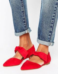 Buy Lost Ink Bow Tie Point Flat Shoes at ASOS. Get the latest trends with ASOS now. Red Shoes, Sock Shoes, Slip On Shoes, Me Too Shoes, Shoe Boots, Shoes Heels, Flat Shoes, Nike Shoes, Bow Flats