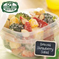 Broccoli Strawberry Salad Recipe from Taste of Home