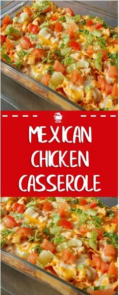 Mexican Chicken Casserole combines all best parts of taco night combines them into one easy, flavorful dish with chicken, rice, cheese, and tortilla chips. The post Mexican Chicken Casserole appeared first on Food Monster. Yummy Recipes, Cooking Recipes, Healthy Recipes, Casseroles Healthy, Cooking Kids, Cooking Corn, Casserole Dishes, Casserole Recipes, Keto Casserole
