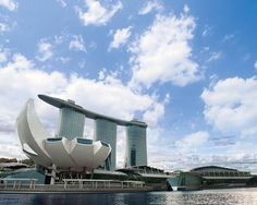 Marina Bay Sands, Sinagpore, designed by Moshe Safdie.