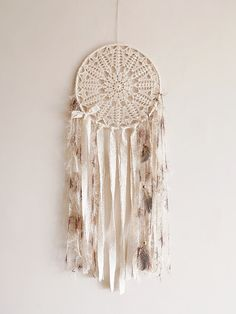 Wall hanging dreamcatcher boho dream catcher crochet by wincsike