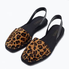 Image 6 of PRINTED LEATHER ESPADRILLES from Zara