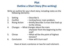 Lots of short story outline templates on writing writing out