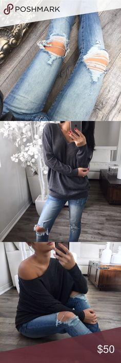 💕Reposh Terrace Buff Knees Blue💕 💕Reposh Terrace Buff Knees Blue. Perfectly distressed. Amazing jeans! Purchased from one of my favorite sellers @itselaine!  Photos and credits are hers. ekattire Jeans Skinny