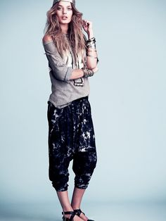Free People Tie Dye Harem Pants,--oh my, these look so comfortable