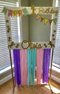 51 New ideas for baby shower photo booth frame diy etsy Unicorn Themed Birthday, Birthday Diy, First Birthday Parties, Birthday Party Themes, Girl Birthday, Birthday Ideas, Birthday Pictures, Baby Pictures, Photo Booth Anniversaire