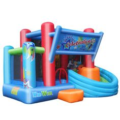 KidWise Celebration Bounce House and Tower Slide (KWSS-CB-208)