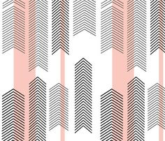 pink chevron stripe fabric by cristina pires : spoonflower