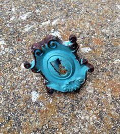 Vintage Inspired Knob. Key Hole Knob. Drawer Pull. by ShabbyWorks