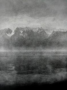 Edward Dimsdale, Boat/Lake/Mountains, Autumn 1999.