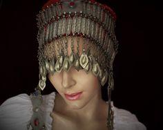 Tribal Kopfschmuck, Vintage Turkmenischer Kopfschmuck GAASHBAAGH IV, Tribal Hochzeitsschmuck; Turkmenenschmuck, Tribalschmuck von neemaheTribal auf Etsy