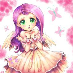 my little pony fluttershy human   My Little Pony: Human Fluttershy by kankitsuru on deviantART
