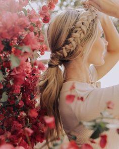 39 Trendy + Messy Chic Braided Hairstyles – Braid ponytail #hairstyle #braids #hairstyles