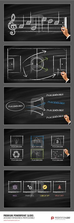 Whether it´s sports or music, you can outline every topic with #chalkboard illustrations.