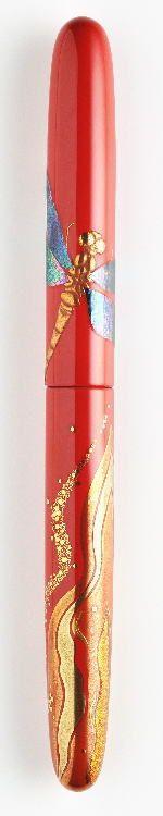 NAKAYA - Makie - Dragon fly Japanese Fountain Pens, Fountain Pen Ink, Spirit Signs, Fine Pens, New Inventions, Writing Pens, Pen Nib, Penmanship, Perfume