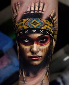Realistic Native Indian Tattoo On Sleeve Design . Realistic Native Indian Tattoo On Sleeve Design . This is One Of the Coolest Phoenix Tattoos I Ve Seen Red Indian Tattoo, Indian Women Tattoo, Native Indian Tattoos, Indian Girl Tattoos, Indian Tattoo Design, Native American Tattoos, Tattoos For Women, Tattoo Girls, Arlo Tattoo