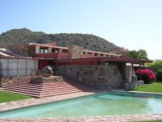 Taliesin West was designed by Frank Lloyd Wright in the and now is home to the Frank Lloyd Wright School of Architecture and is a National Historic Landmark. Architecture Design, Organic Architecture, School Architecture, Amazing Architecture, Casas De Frank Lloyd Wright, Frank Lloyd Wright Homes, Rem Koolhaas, Scottsdale Arizona, Norman Foster