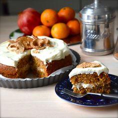 Ett bra recept på morotskaka. Halvhälsosamt dessutom. // nannasmat.tumblr.com