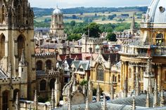 New College Oxford- View over Oxford from the Bell Tower