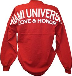 Spirit Football Jersey Miami University Love & Honor