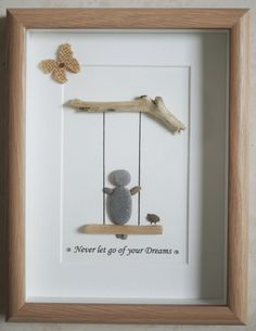 Pebble Art framed Picture  Never let go of your Dreams von Jewlls4u