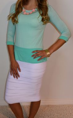 I love love loooove my skirt like this!! #Sexymodestboutique