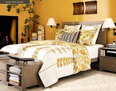 I love the mustard yellow with the brown. Very earthy tones!