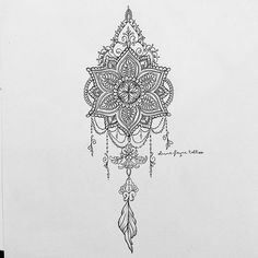 Mandala dream catcher for Gemma (all designs are subject to copyright. None are for sale. To order your own custom design visit my website or email. All info in bio) #mandala #tattoodesign #dreamcatcher #dreamcatchertattoo