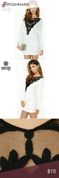 Womens Dress Black White Lace Sexy Elegant Womens Dress Black White Lace Sexy Elegant  Size L  other size maybe available low stock  Material: Spandex mix, Lace Dresses Mini