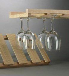 Wood Hanging Wine Glass Rack has 6 Channels and Sturdy Construction! Best Wood Wine Glass Rack for Your Classic Bar. Hardwood Wine Glass Rack is Made of Unstained Ash and Maple for a Clean, Crisp Look. Wood Hanging Wine Glass Rack has All Hardware. Wine Glass Storage, Wine Glass Holder, Palette, Wooden Rack, Unfinished Wood, Storage Rack, Cabinet Hardware, Kitchen Storage, Food Storage
