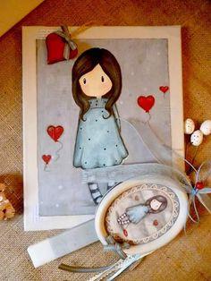 Irene & Nicki Crafts: Gorjuss Canvas Art and Handmade Gorjuss Frame East...
