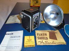 VINTAGE KODAK DUAFLEX 2.  With Flash and Close up Lens. Vintage camera #Kodak