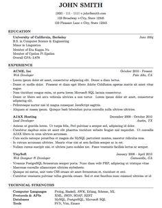 resume templates skills based