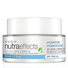 Introducing the nutraeffects product line. The Hydration Collection is formulated to help boost skin's barrier function to help protect from the dehydrating effects of external elements like wind, cold and dry air. Our formulas help keep skin looking and feeling moisturized, nourished and hydrated, which is essential to keeping skin looking healthy.1.7 fl. oz.  nutraeffects Hydration Day Cream Broad Spectrum SPF 15 smooths dry, rough, and flaky skin while continuing to hydrate for 48 hours