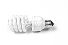 compact fluorescent light bulb - twisted tube Royalty Free Stock Photo