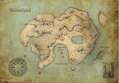 Neverland Map - I want a bunch of fictional maps just like this!